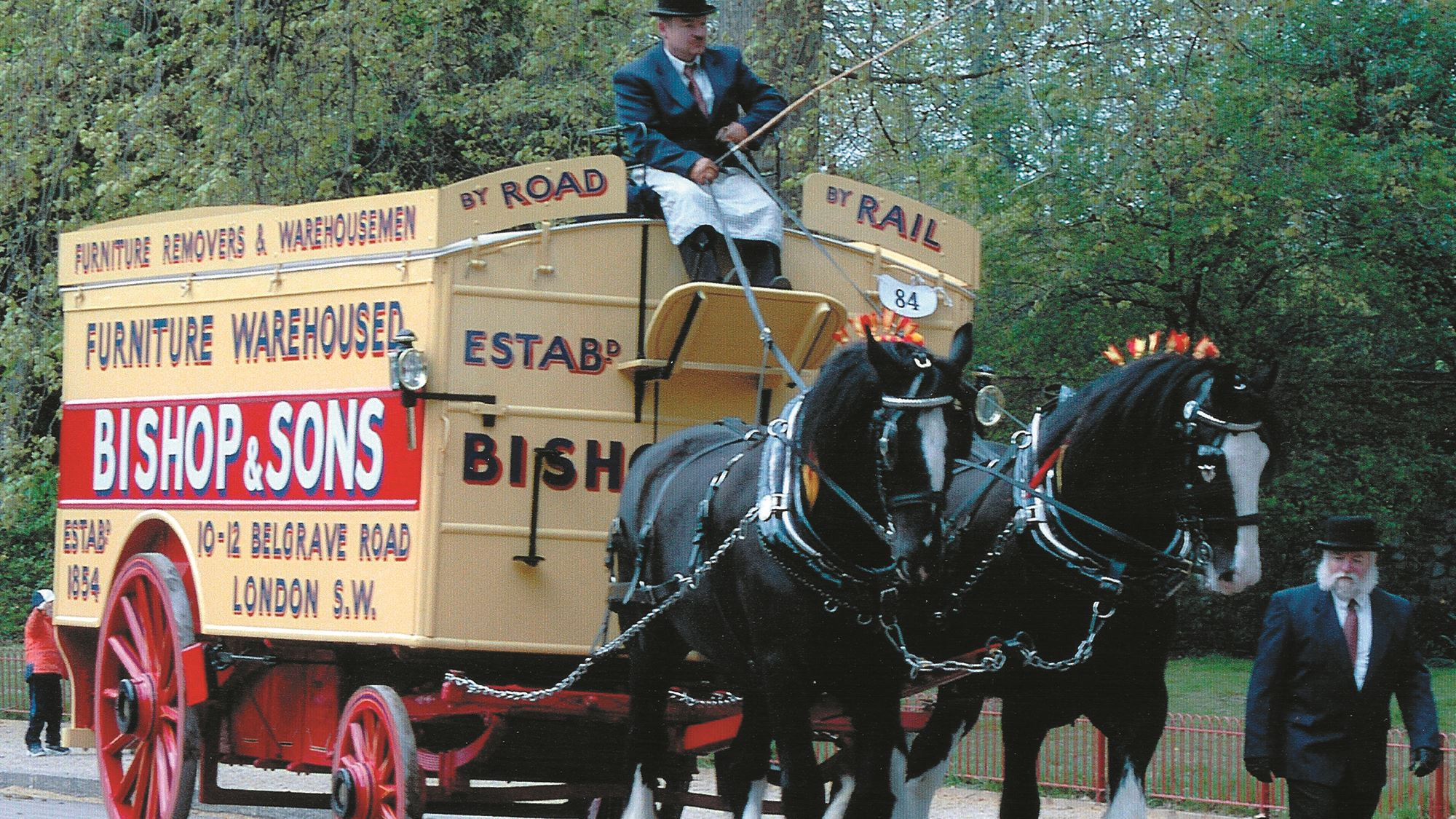 Bishop's & Sons horse and carridge