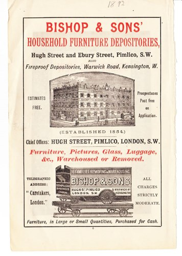 Bishop & Sons' early advert