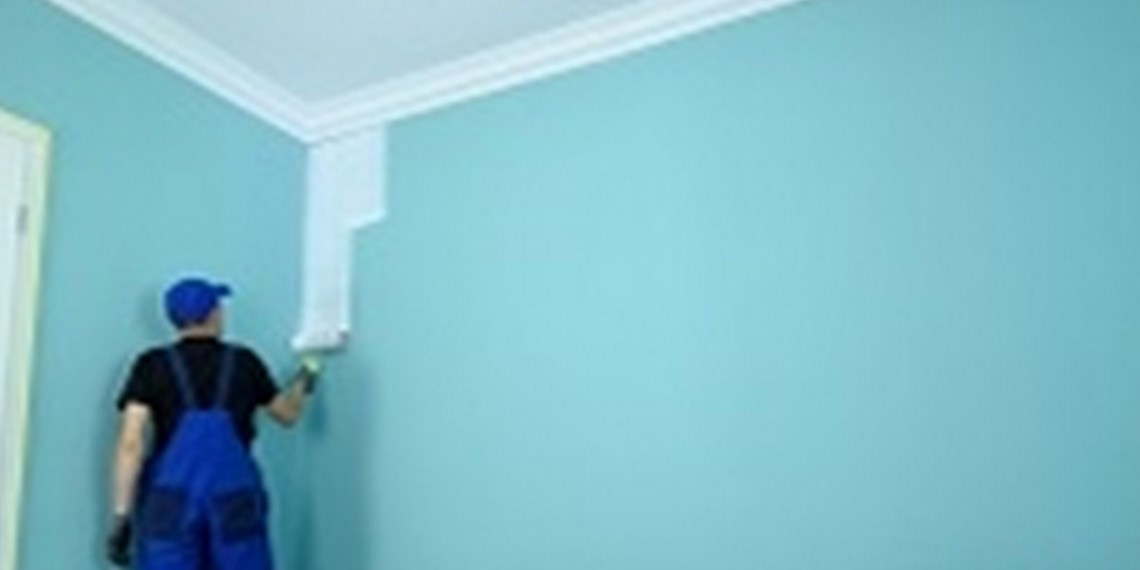 How to Paint a Wall & Ceiling