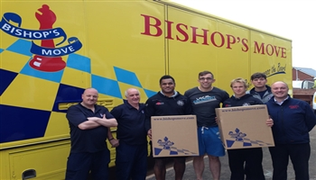 Exeter Chiefs & Bishop's Move work as a team to move house!