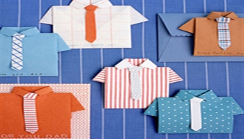 Make your Dad a great folded shirt Father's Day card!