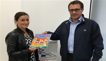 Bishop's Move deliver books to St Bernard's First School in Gibraltar.