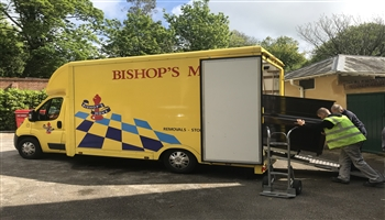Bishop's Move deliver piano to the National Trust's Polesden Lacey in Surrey
