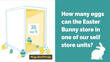 Can you guess how many eggs the Easter Bunny is storing with us?