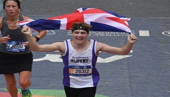 Rupert Guiel - officially the youngest competitor at 2017's New York City Marathon
