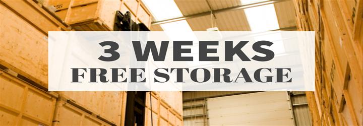Get 3 weeks FREE storage with Bishop's Move