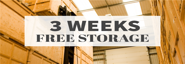 Get 3 weeks FREE storage with Bishop's Move