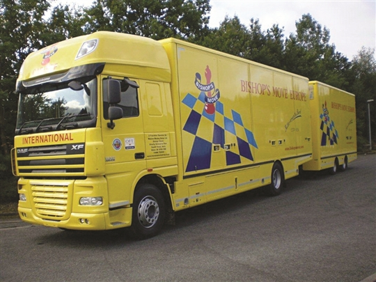 Bishop's Move Wales - European Road Train