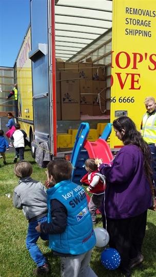 Children having fun at the Big Lunch in Dalkeith%44 Scotland