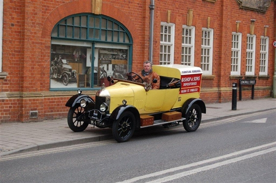 Our Morris Bullnose Cowley van taking part in the Centenary Cavalcade in Oxford on 29th March 2013