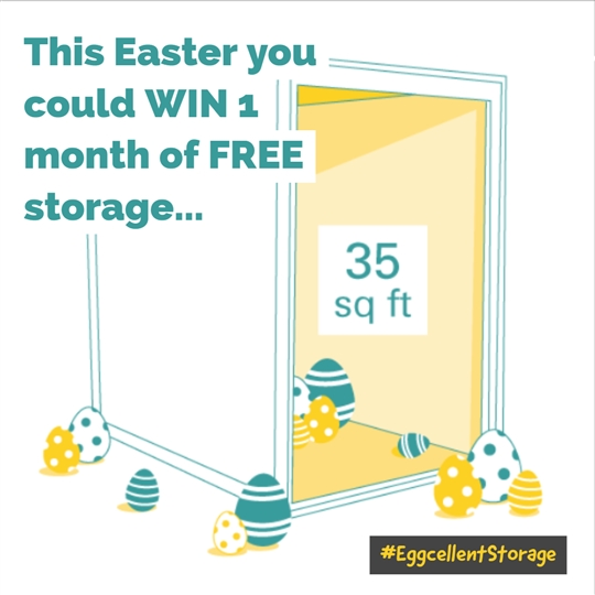 Win 4 Weeks FREE storage this Easter.