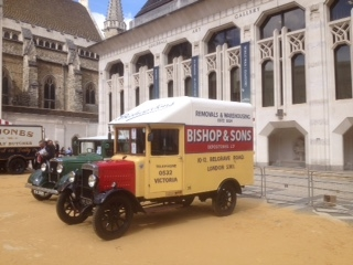 Parked up in the Guildhall Yard