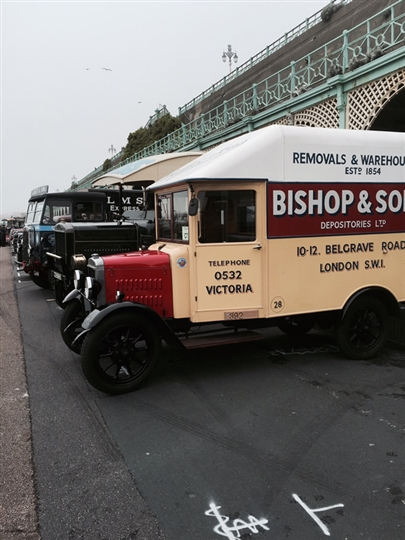 Parked up at the finish on Madeira Drive%44 Brighton