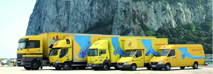 Move to, from or around Gibraltar with Bishop's Move - the only removals company on the rock!