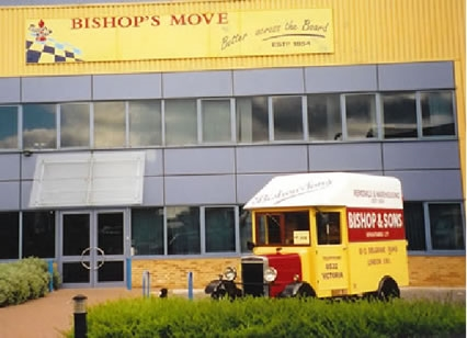 Bishop's Move historic removals van