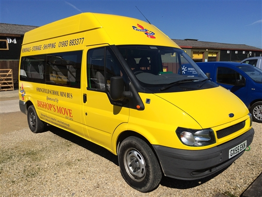 Bishop's Move's sponsored minibus for Springfield Special Needs School%44 Witney