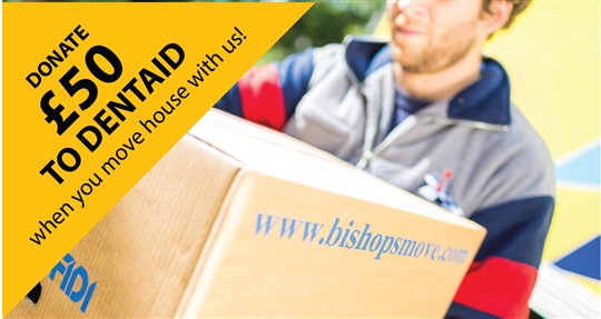 Move home with Bishop's Move and we'll donate £50 to the oral health care charity Dentaid