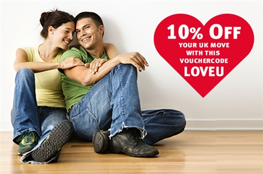 Find out how you could save 10% off your UK house move this Valentine's Day