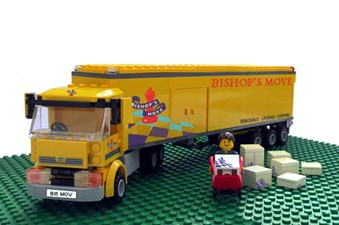 A LEGO Bishop's Move truck